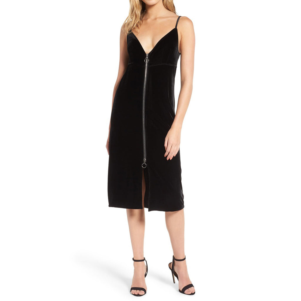 7 For All Mankind Velvet Midi Dress