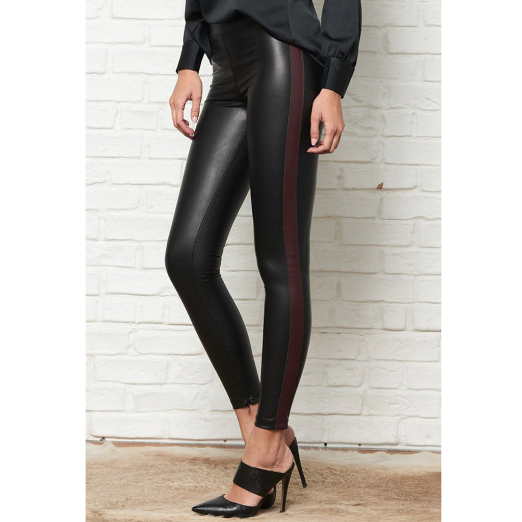 David Lerner Faux Tuxedo Striped Legging