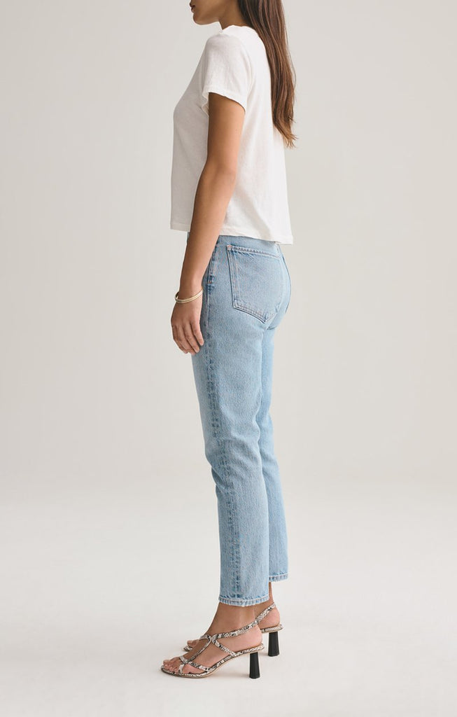 AGOLDE Denim Riley Hi Rise Straight Crop in Renewal