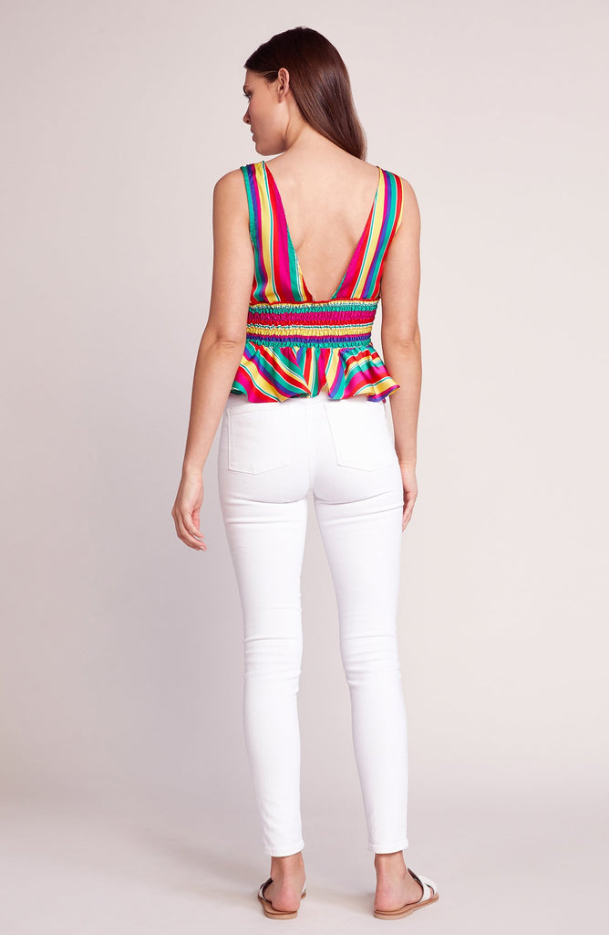 BB Dakota Over The Rainbow Peplum Top