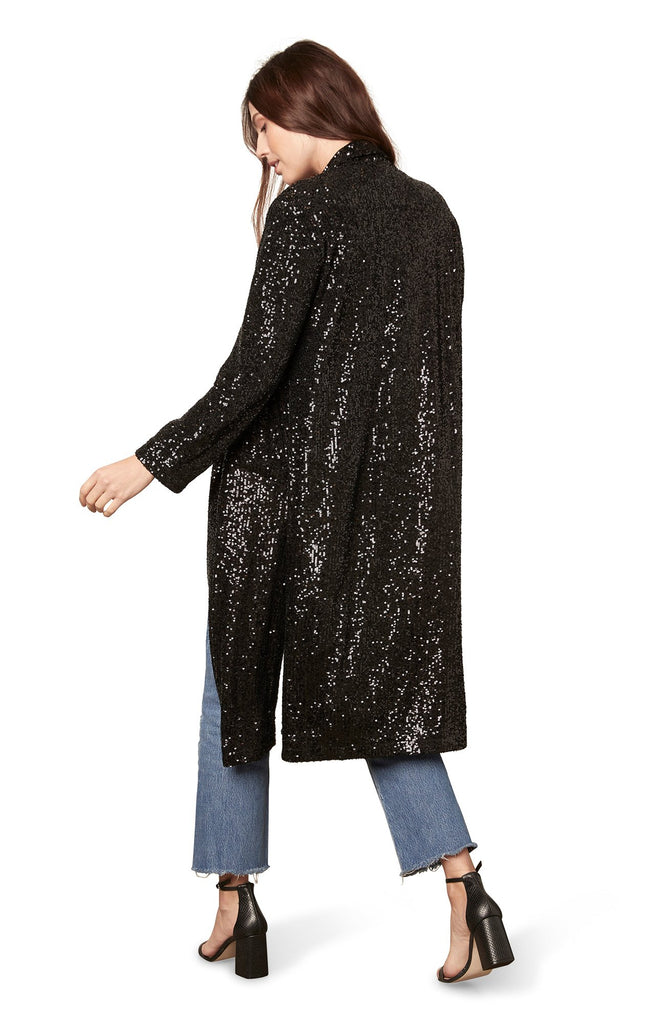 BB Dakota Glitter Bomb Duster in Black