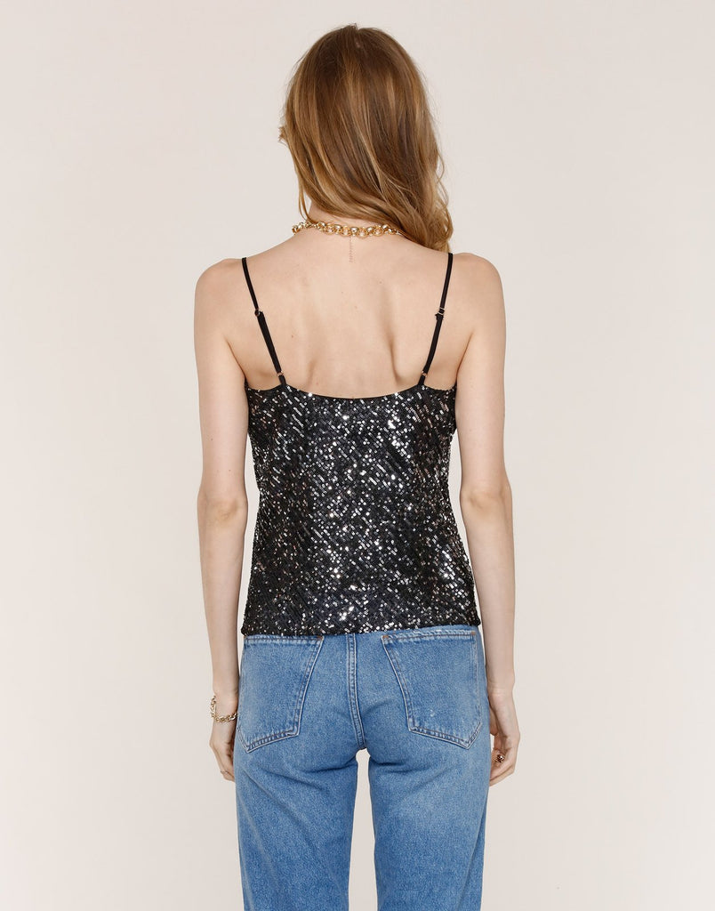 Heartloom Iona Sequin Cami in Black