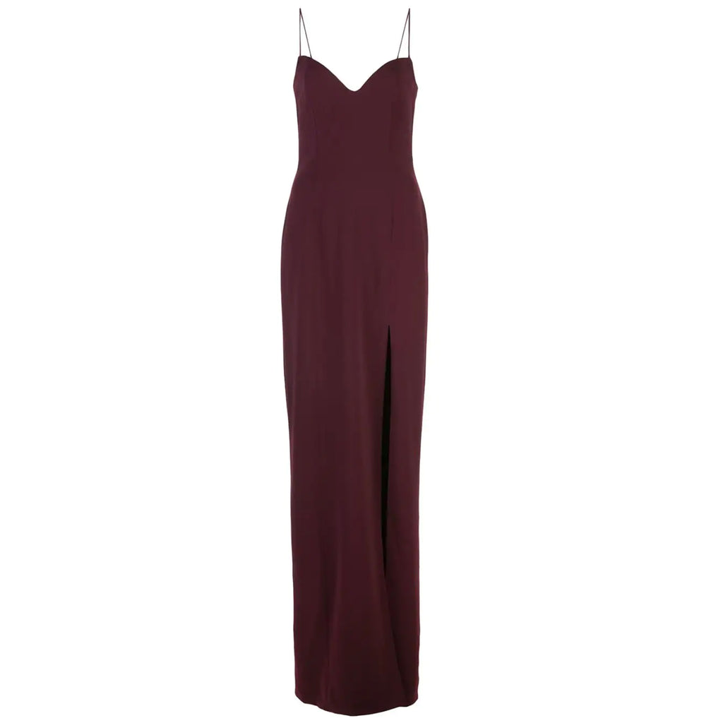 Jay Godfrey Harrah Gown in Wine
