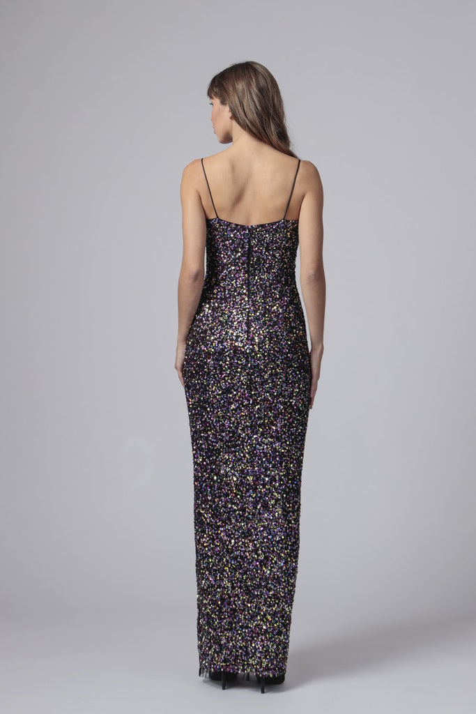 Jay Godfrey Harrah Gown in Multi Color Sequin