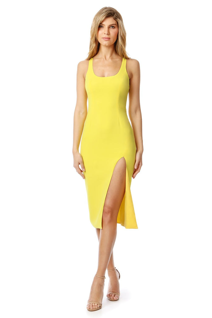 Jay Godfrey Witherspoon Midi Dress in Yellow