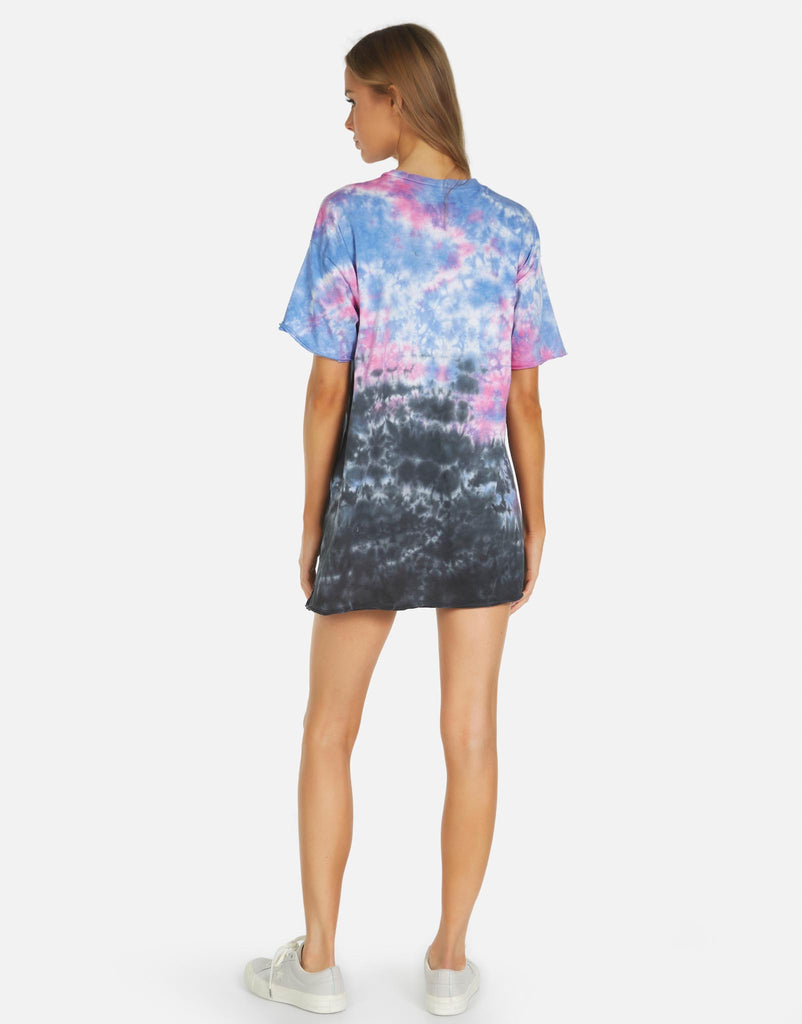 Michael Lauren Burman T-Shirt Dress in Pink Skies Tie Dye