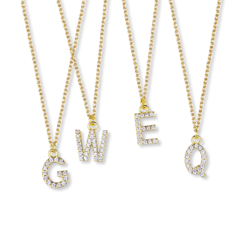 Suite201 Initial Diamond Necklace in Gold