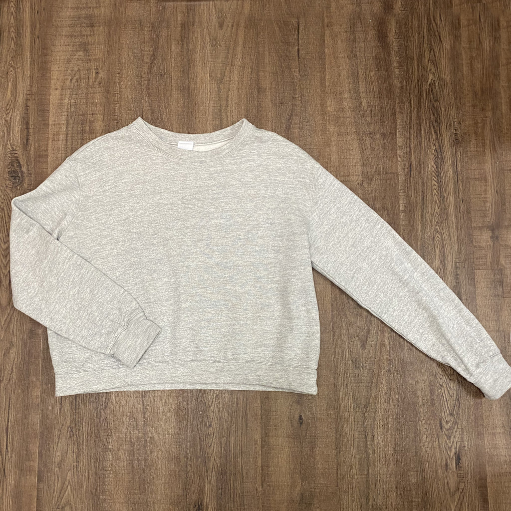Project Social T Mercer Crew Neck Sweatshirt in Heather Grey