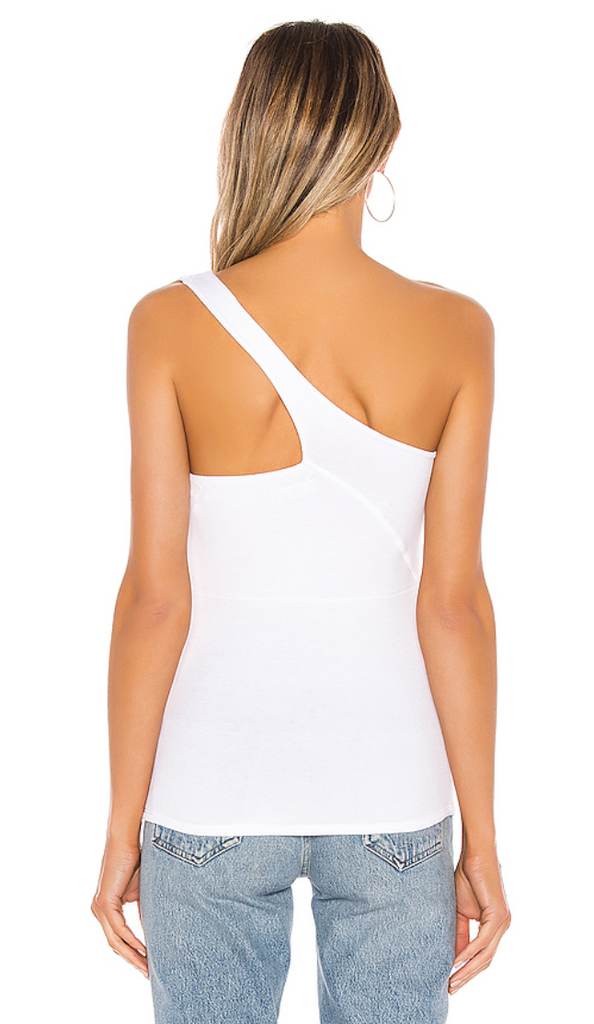 Michael Lauren Prescott Tank One Shoulder Tank in White
