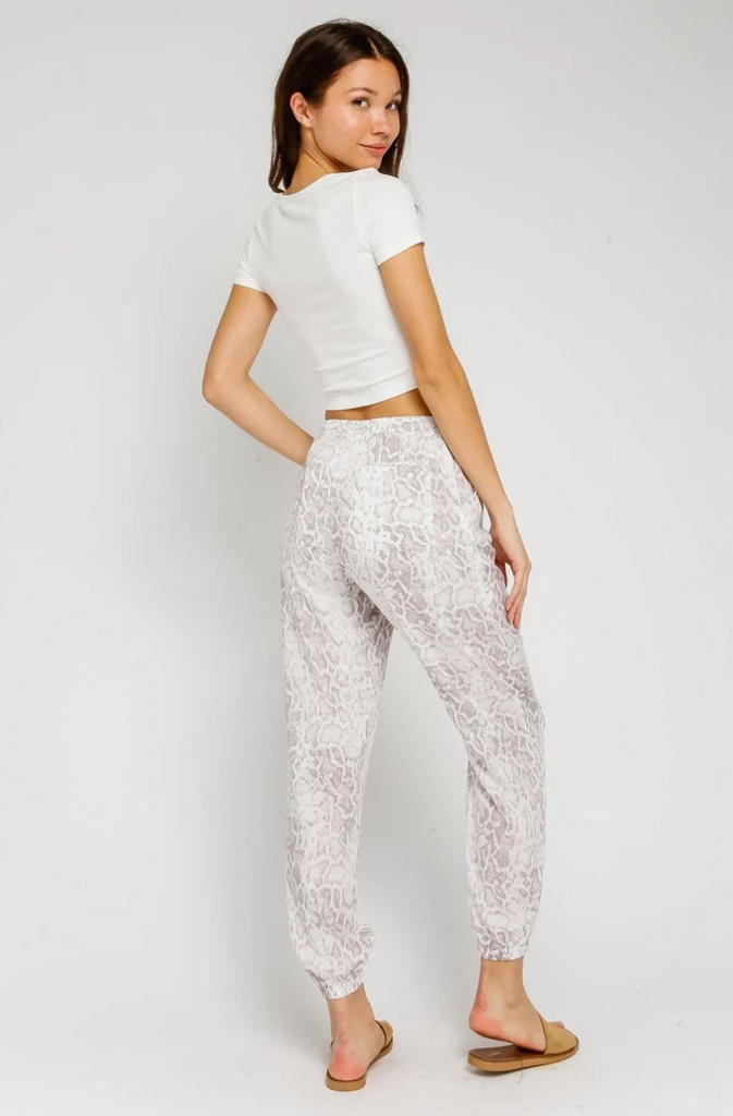 Olivaceous Snake Printed Joggers