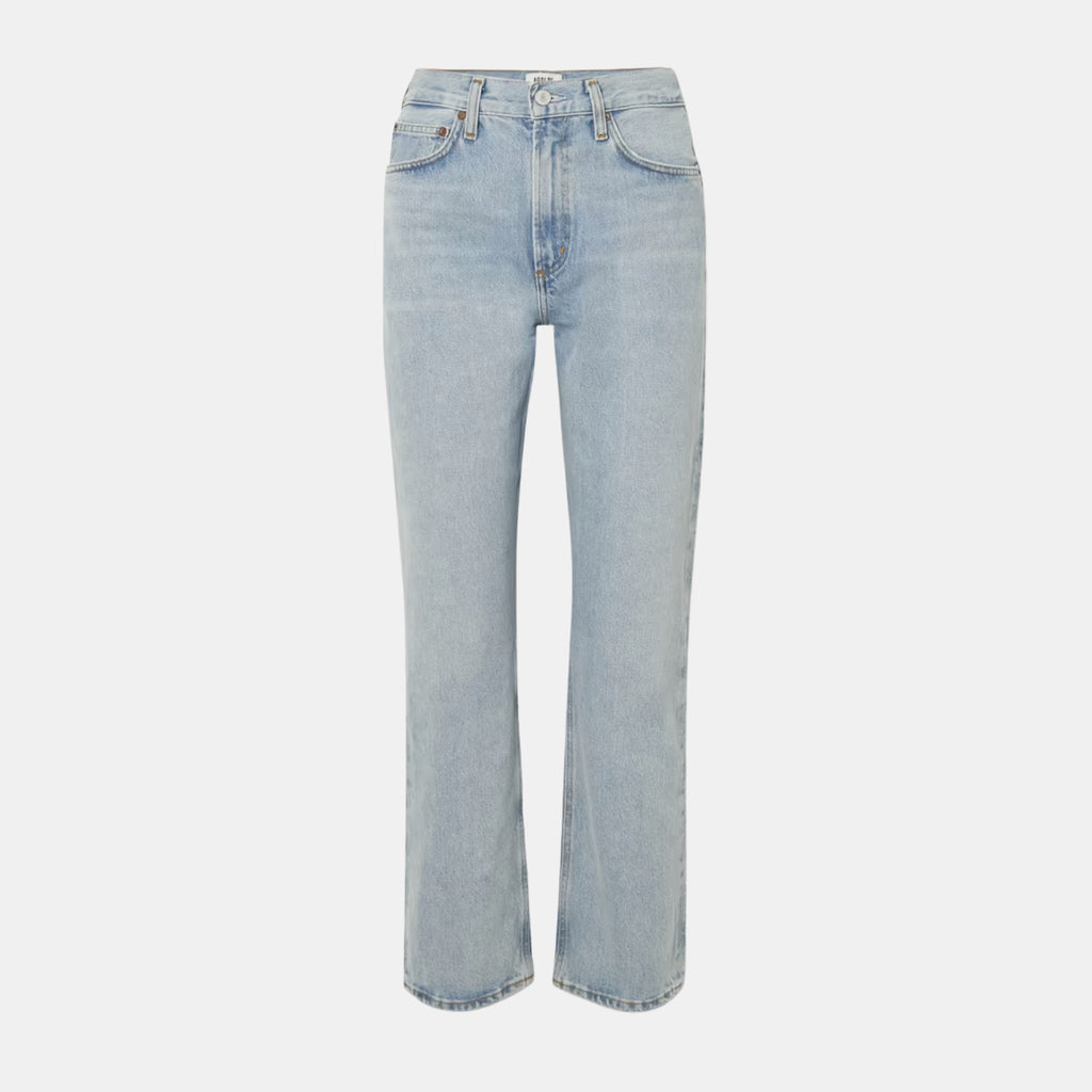 AGOLDE Denim Riley High Rise Slim Short in Snapshot