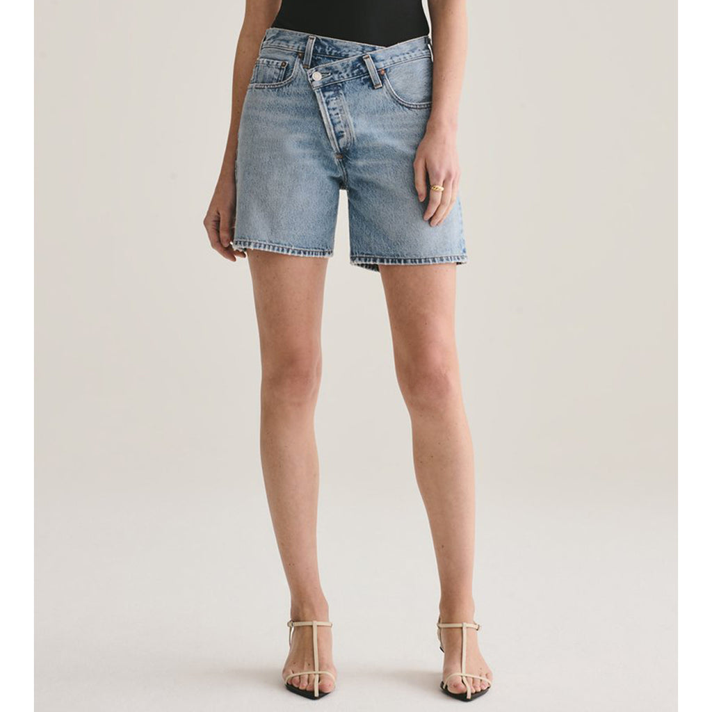 AGOLDE Denim Criss Cross Upsized Short in Momentum