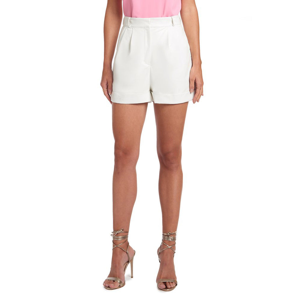 Amanda Uprichard Everett High Waisted Faux Leather Short