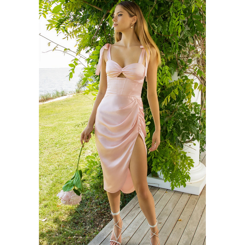 Amanda Uprichard Annika Faux Leather Jumpsuit in Black