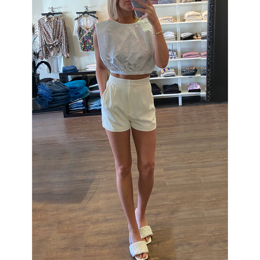 Amanda Uprichard Connor Shorts in Ivory
