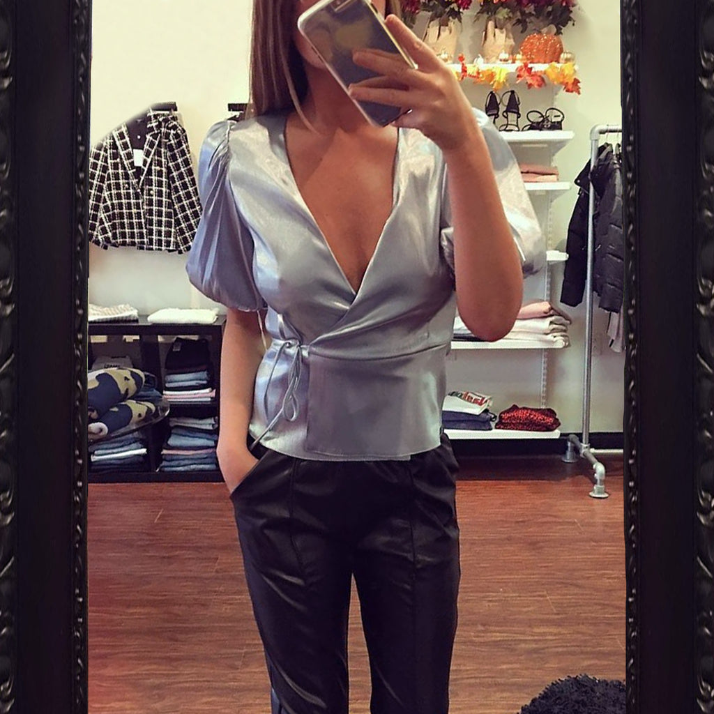 Amanda Uprichard Maggie Wrap Top