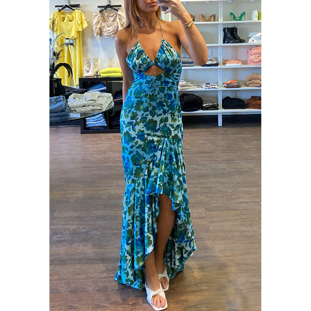 Amur Harlow Ruffle Gown