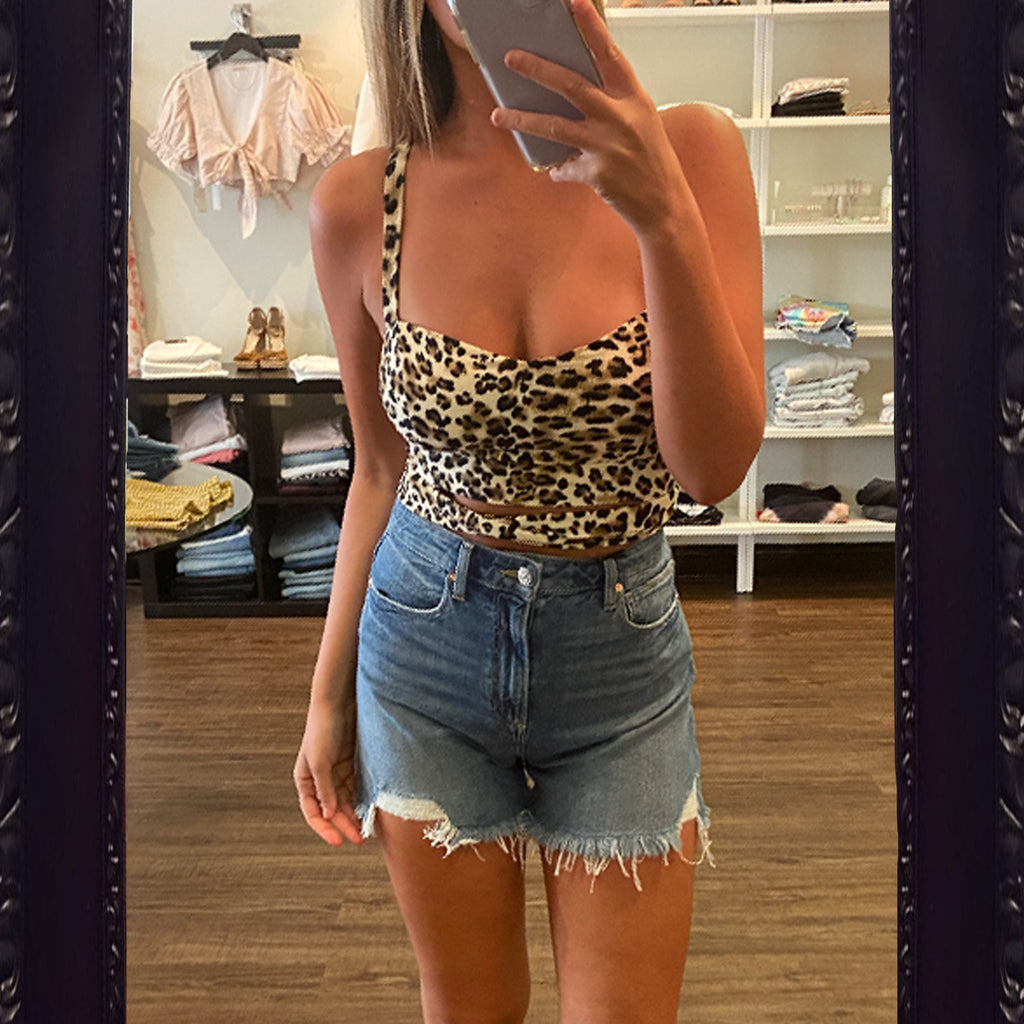 Dream Bandits So Sassy Leopard Crop Top