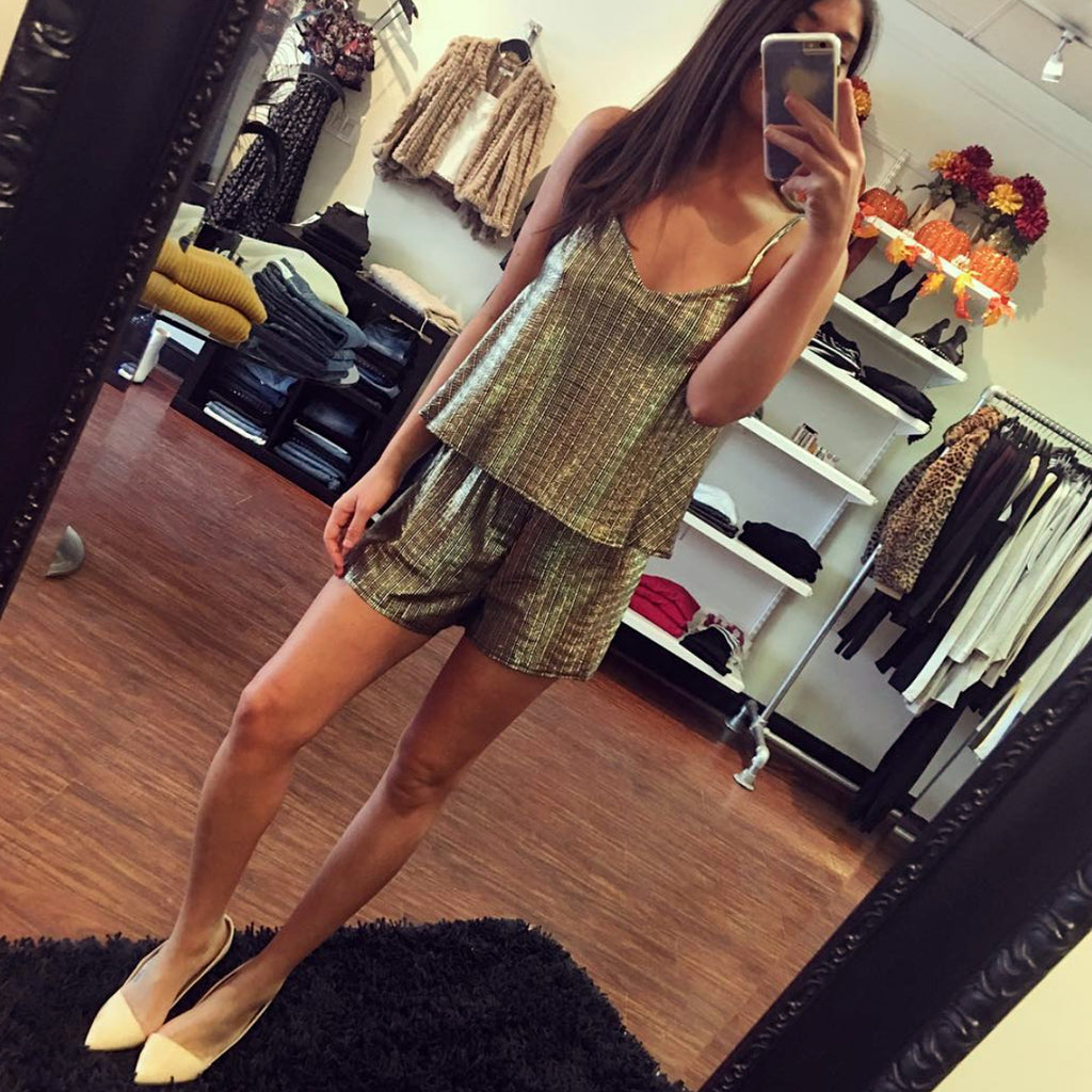 BB Dakota Gold Foil Romper