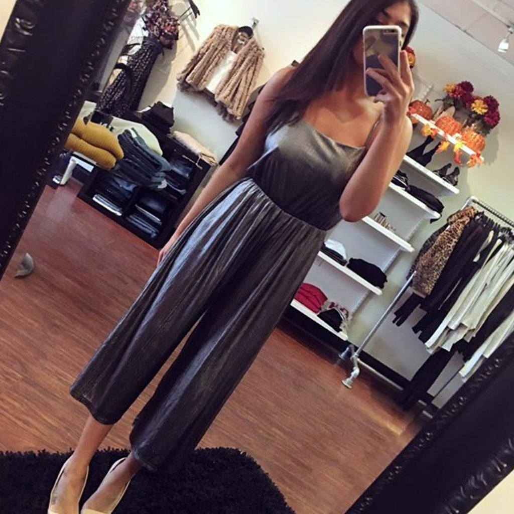 BB Dakota Shine on Metallic Jumpsuit