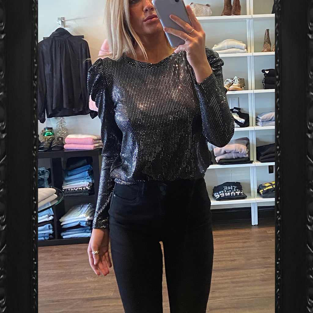 BB Dakota Let It Shimmer Sequin Top