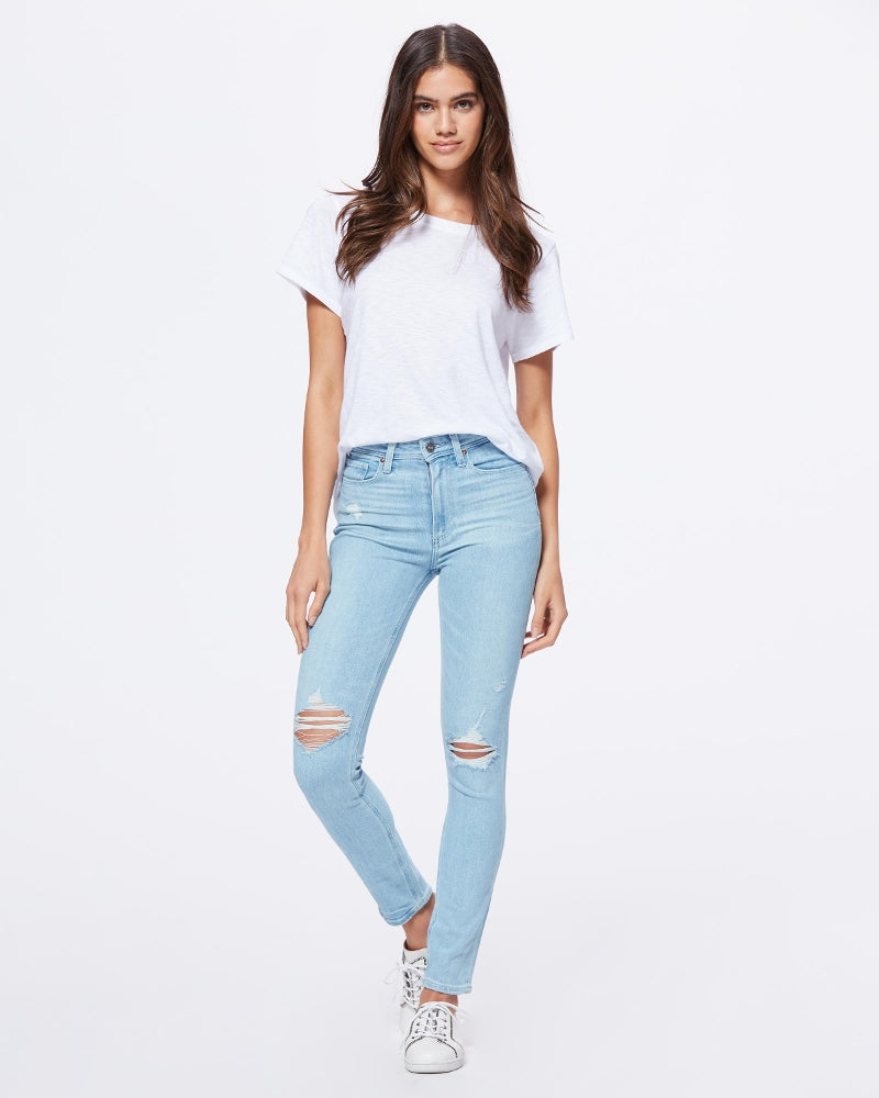 Paige Denim Margot High Rise Distressed Skinny in Sumner