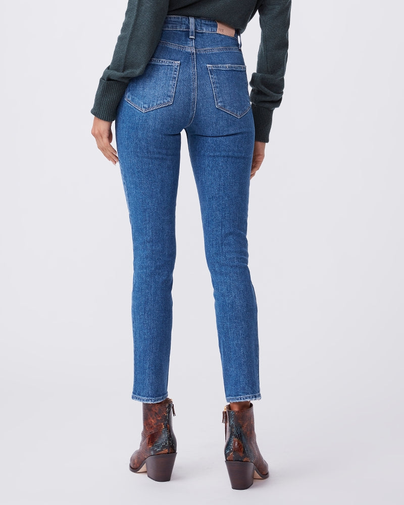 Paige Denim Sarah Slim High Rise in Roadhouse