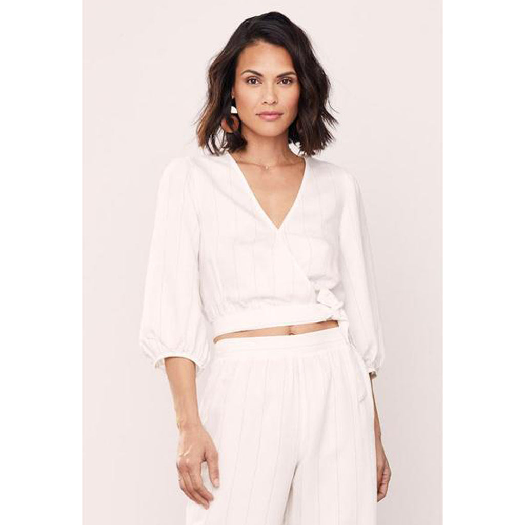 David lerner Full Sleeve Wrap Top