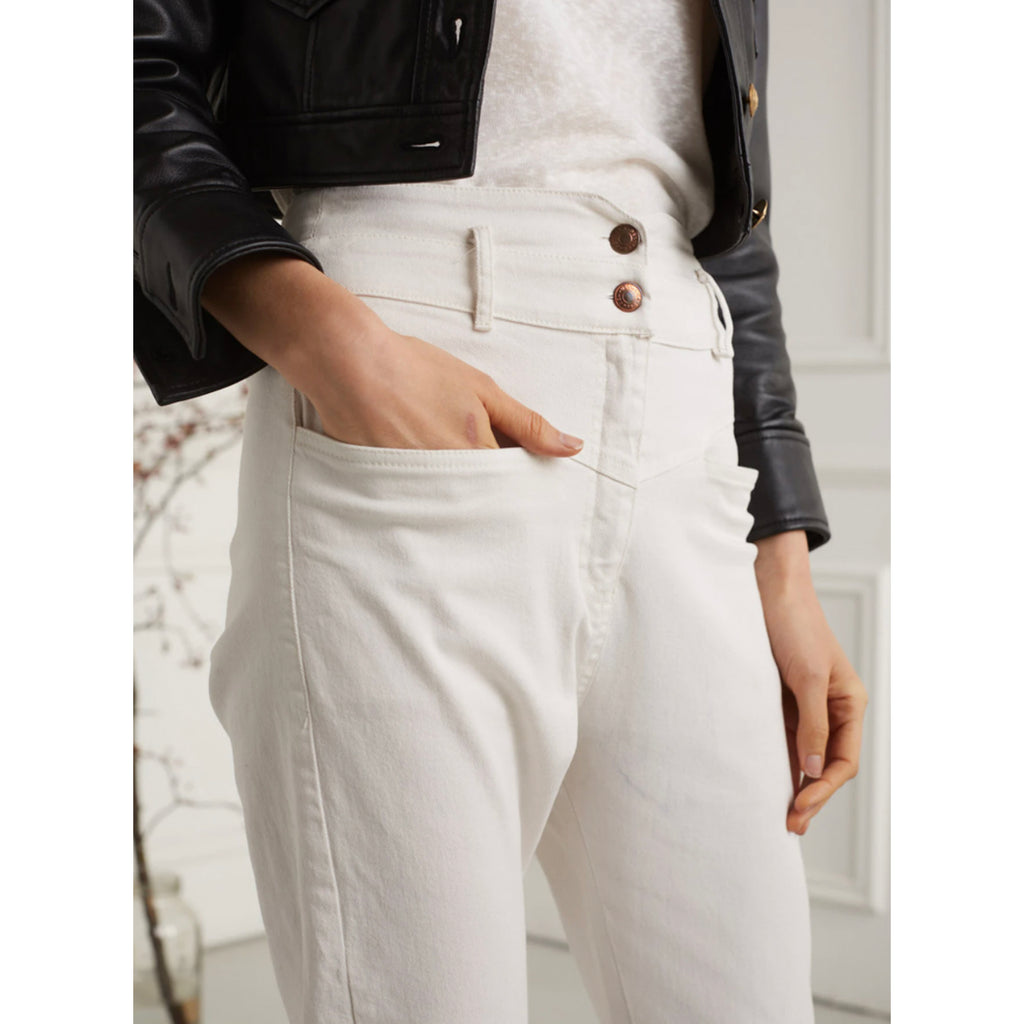 Deluc. Clothing Joey High Waisted Pant in White