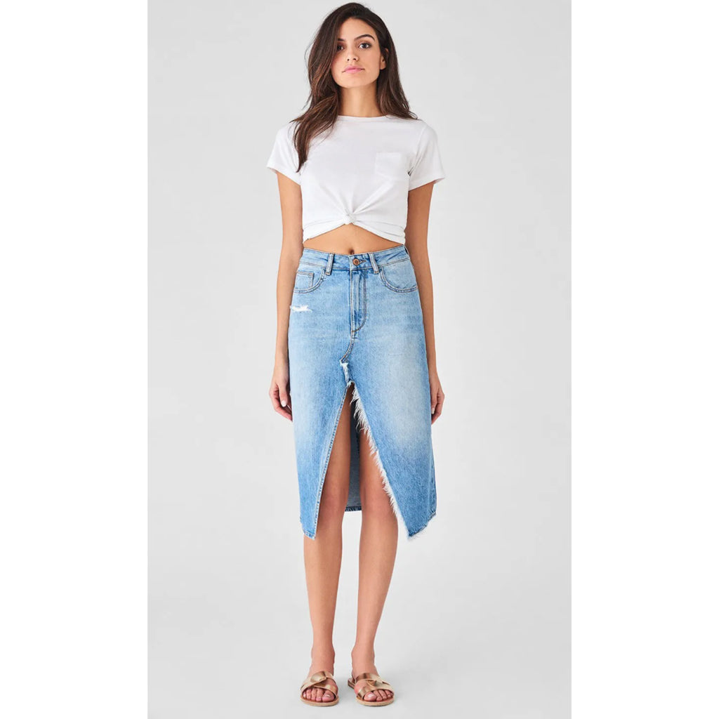 DL1961 Denim Georgia High Rise Skirt in Morocco