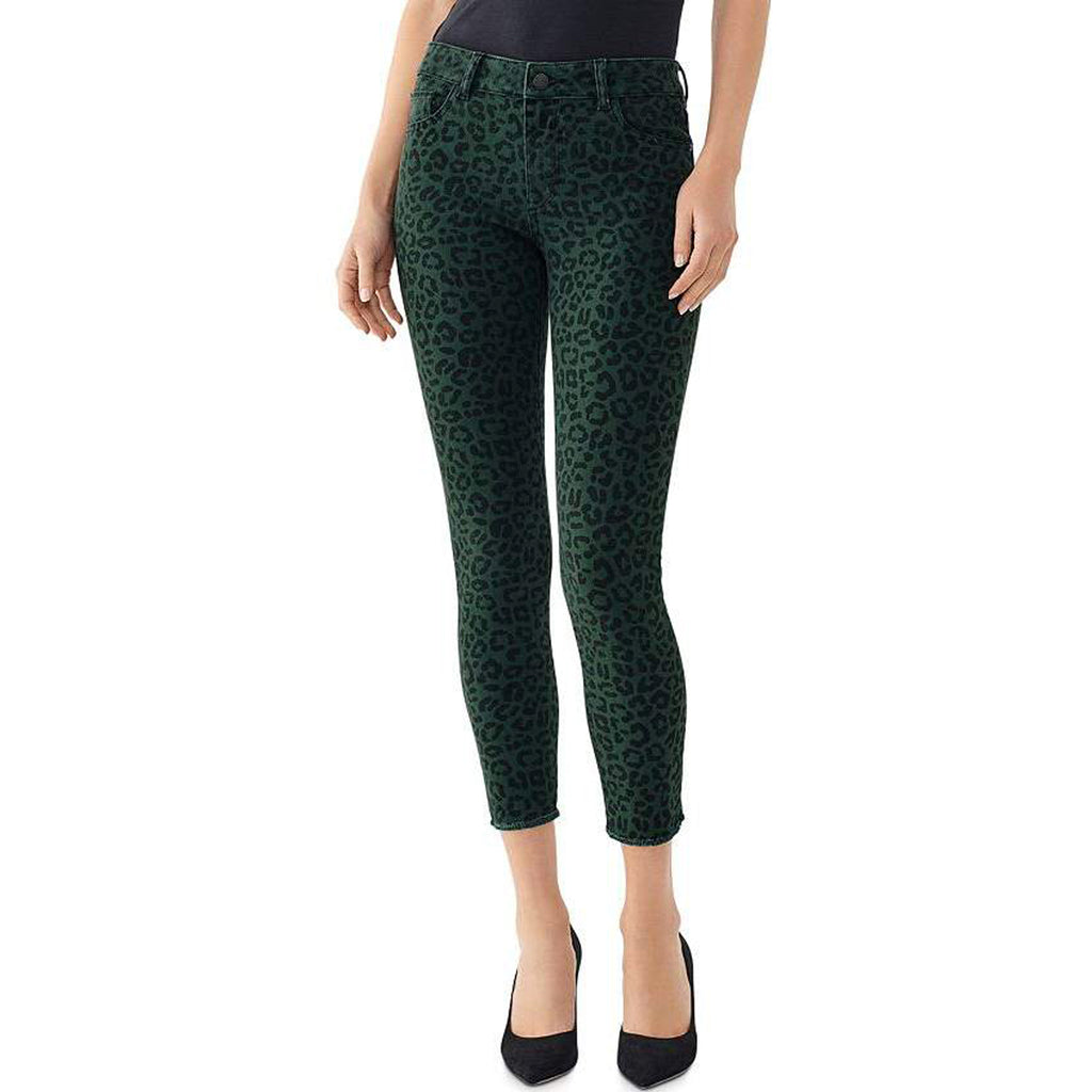 DL1961 Denim DL1961 Florence Mid Rise Crop in Snow Leopard