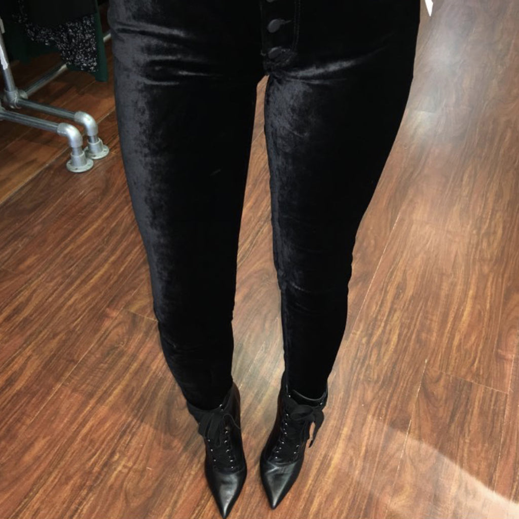 DL1961 Denim Emma Low Rise Velvet Skinny