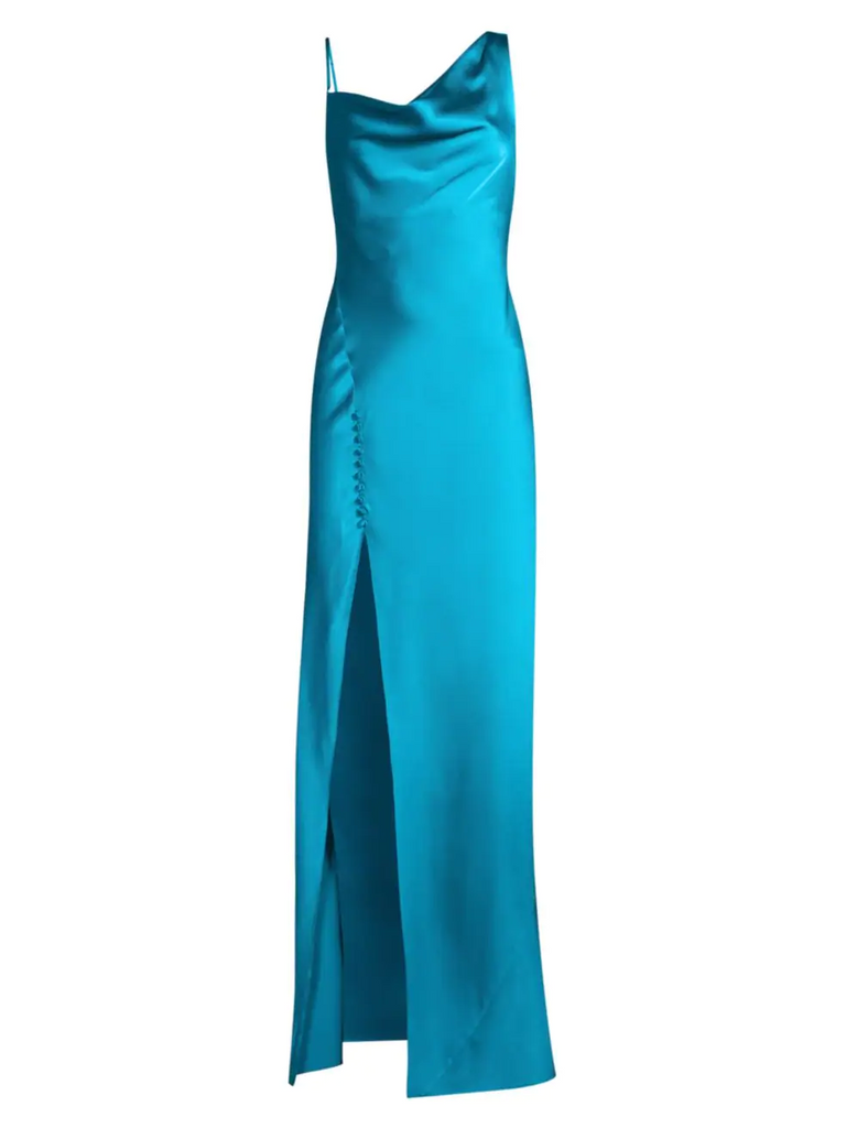 Jay Godfrey Justine Bias Gown in Peacock