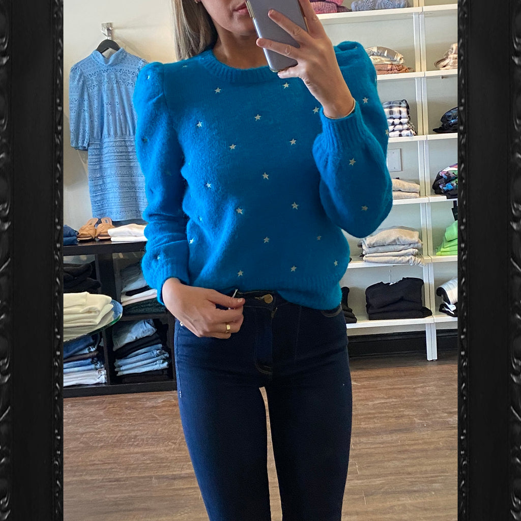 Generation Love Angelina Star Sweater in Teal