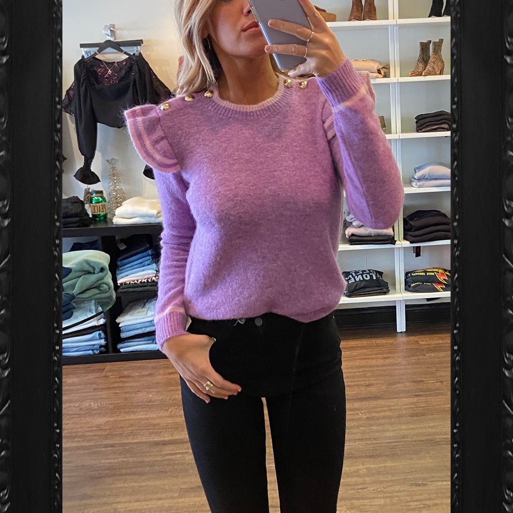 Generation Love Brynlee Ruffle Sweater in Purple