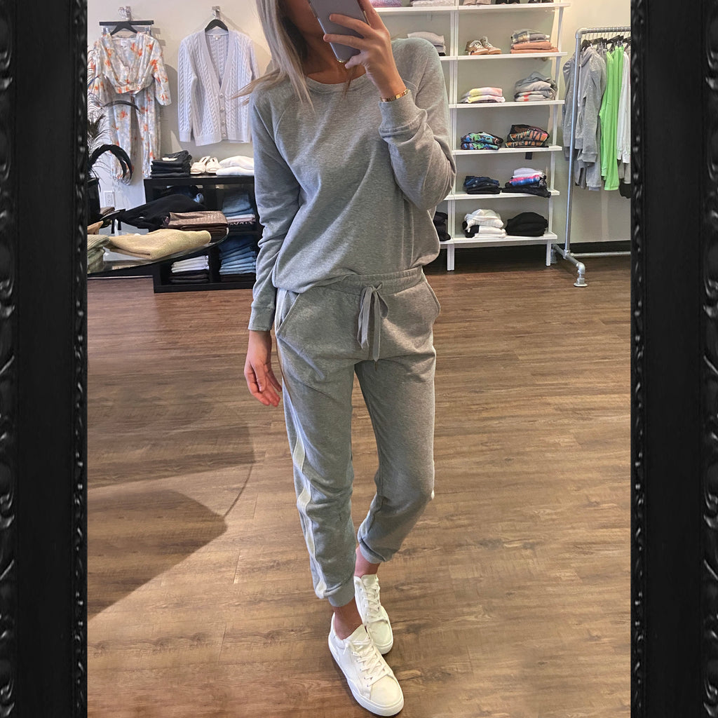 Heartloom Fern Jogger in Heather Grey