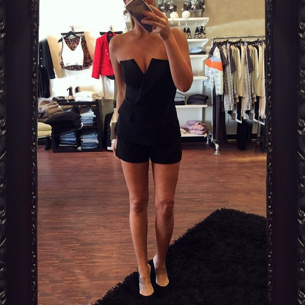 Jay Godfrey Gibson Romper in Black