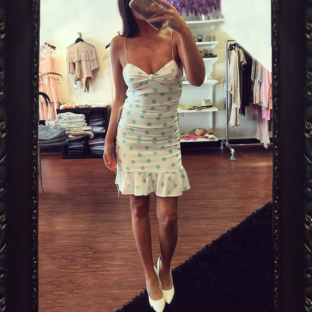 For Love & Lemons Caroline Polka Dot Dress