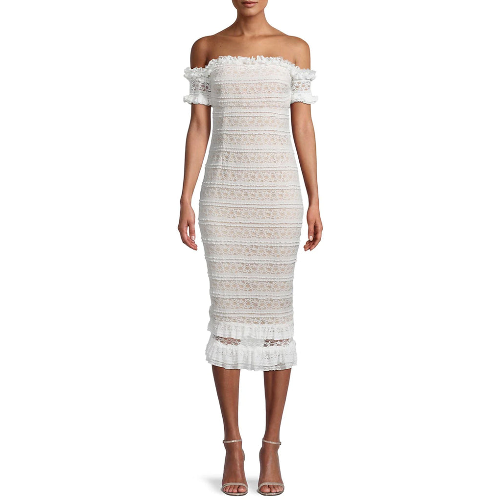 Likely Milaro Lace Off the Shoulder Dress