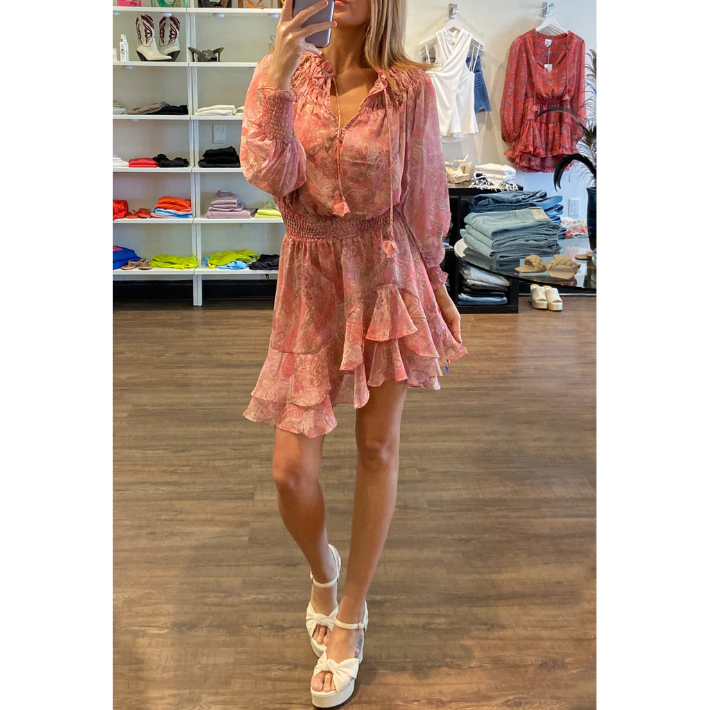 Misa Noa Top in Casablanca Blue Shell Print