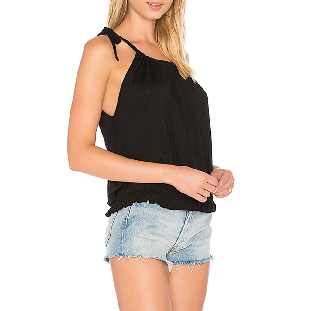 Michael Lauren Banjo Smocking Hem Tank