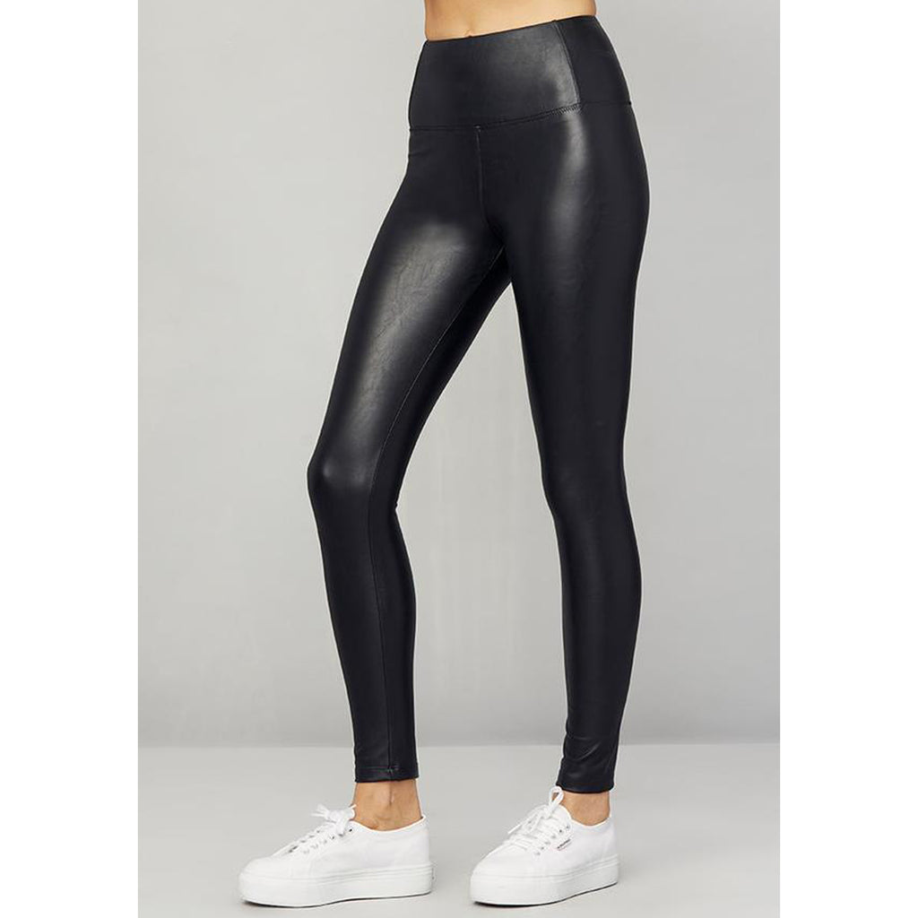 David Lerner Elliot Thin High Waisted Faux Leather Legging