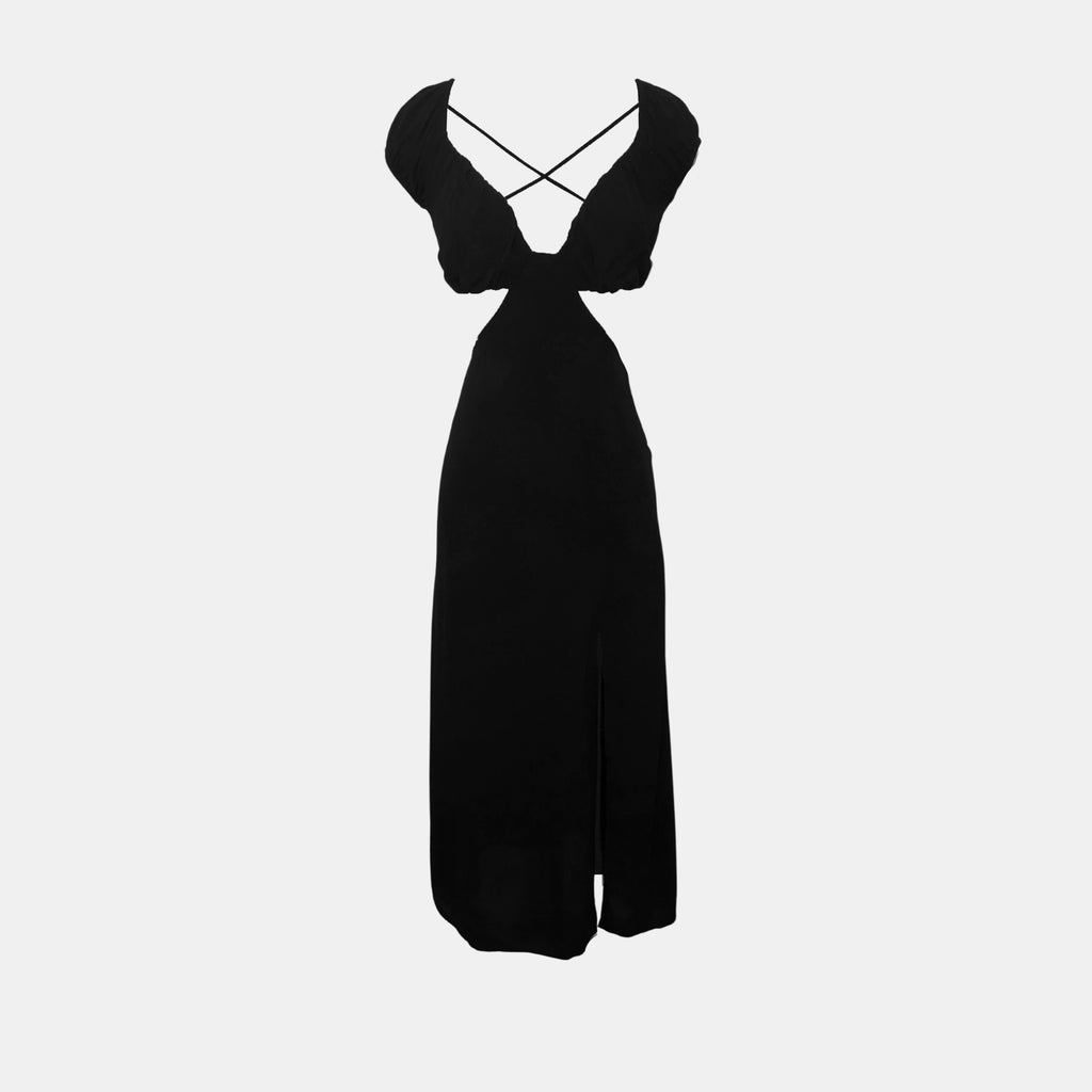 Olivaceous Floral Strapless Maxi Dress