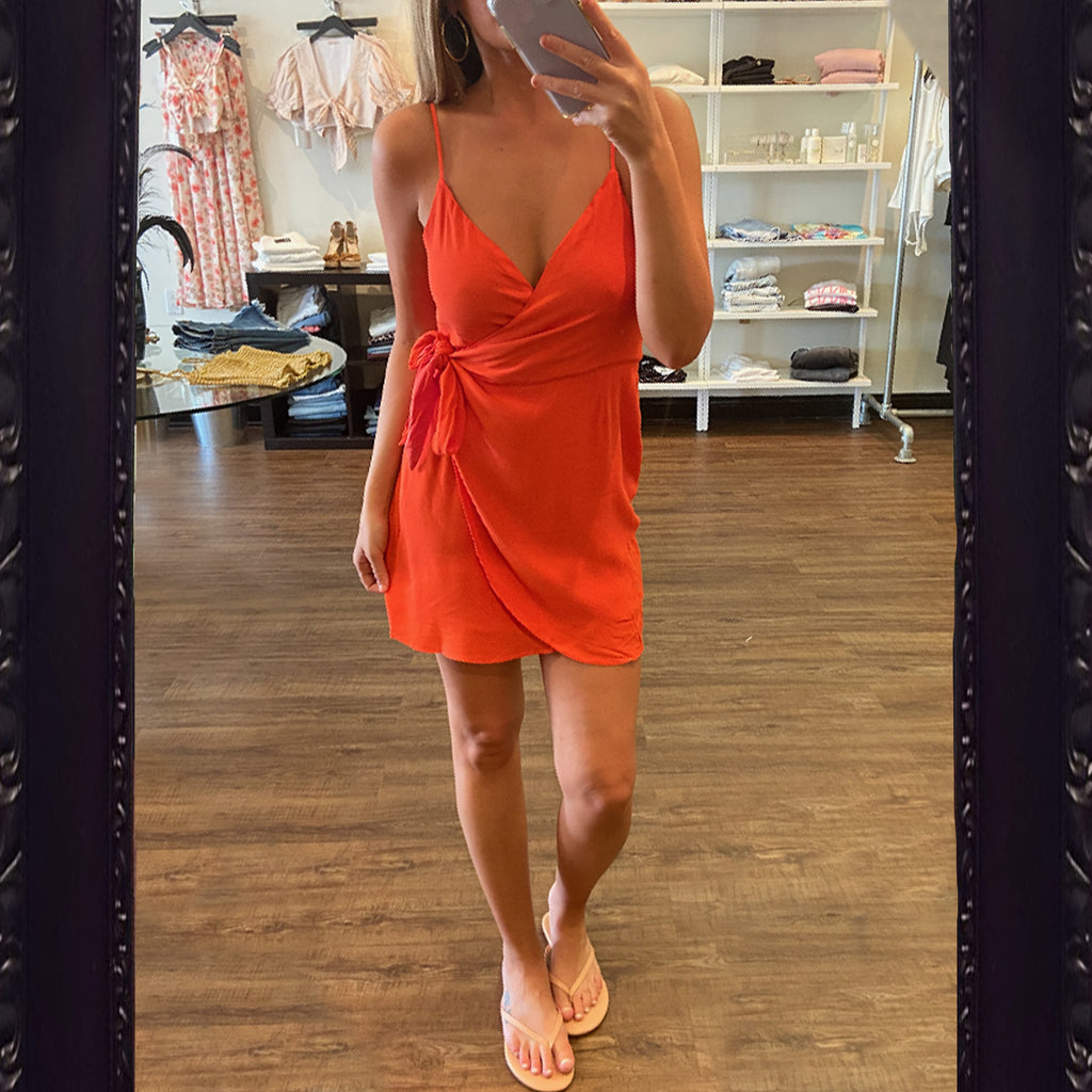 Olivaceous Waist Tie Tank Dress