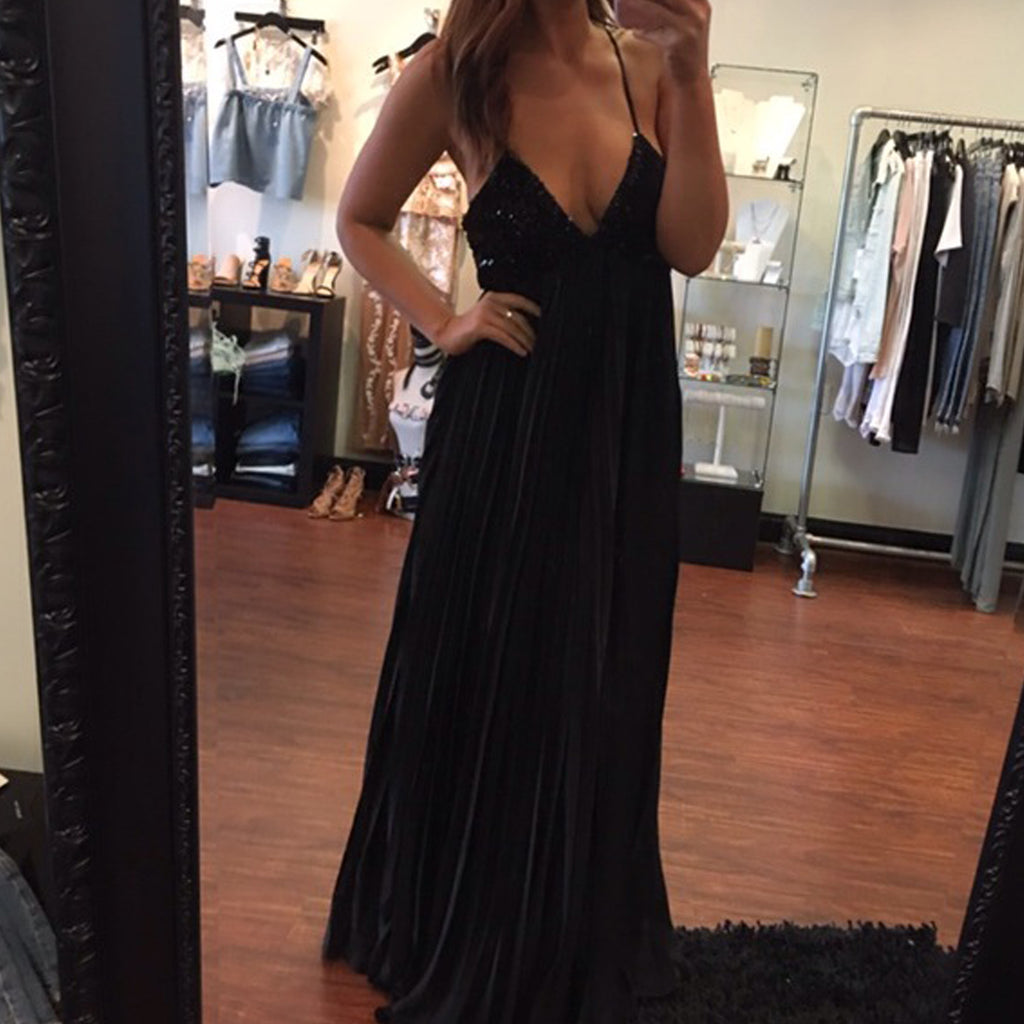 Olivaceous Sequin Maxi Dress