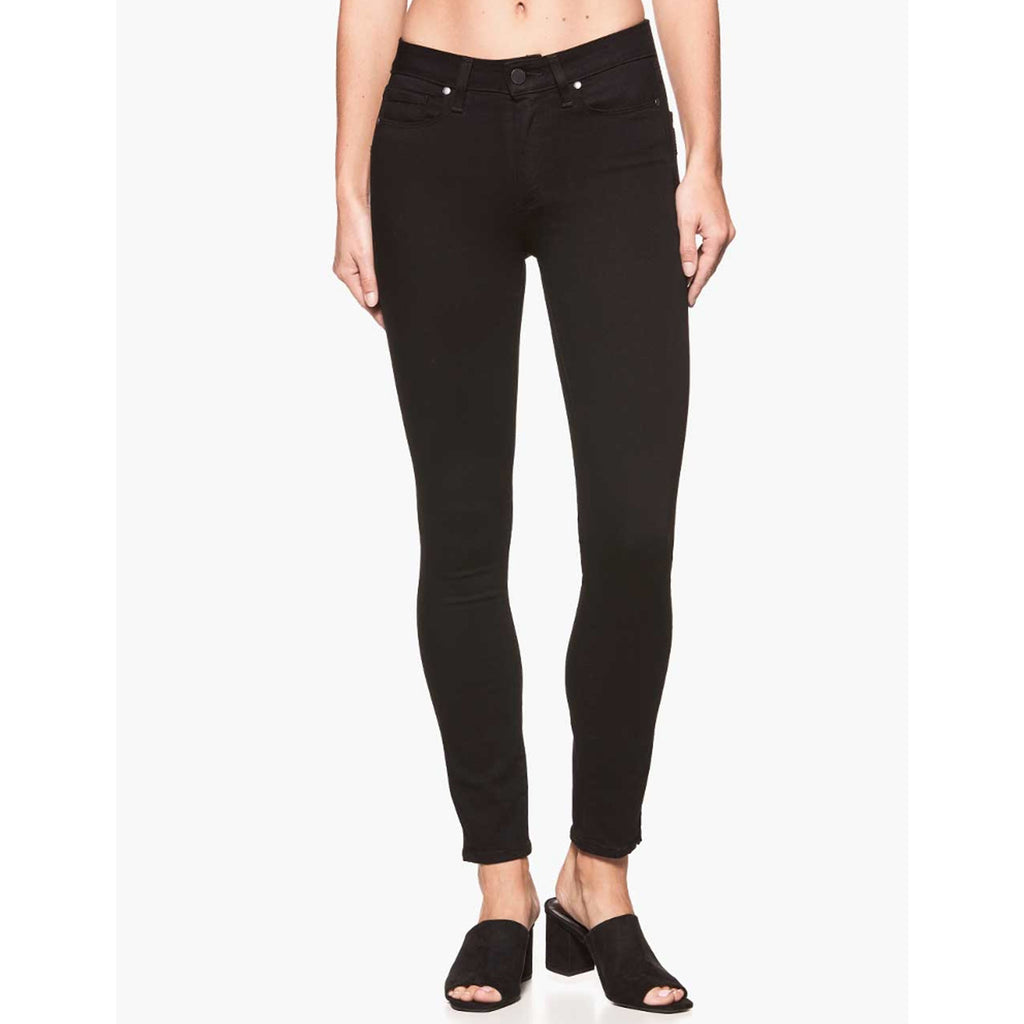 Paige Denim Hoxton Ultra Skinny in Black Shadow
