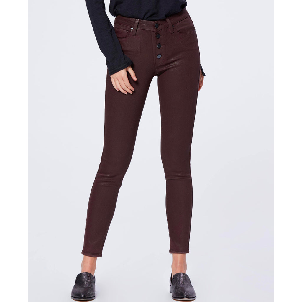 Paige Denim Hoxton Ankle Chicory Coffee Luxe Coating Skinny