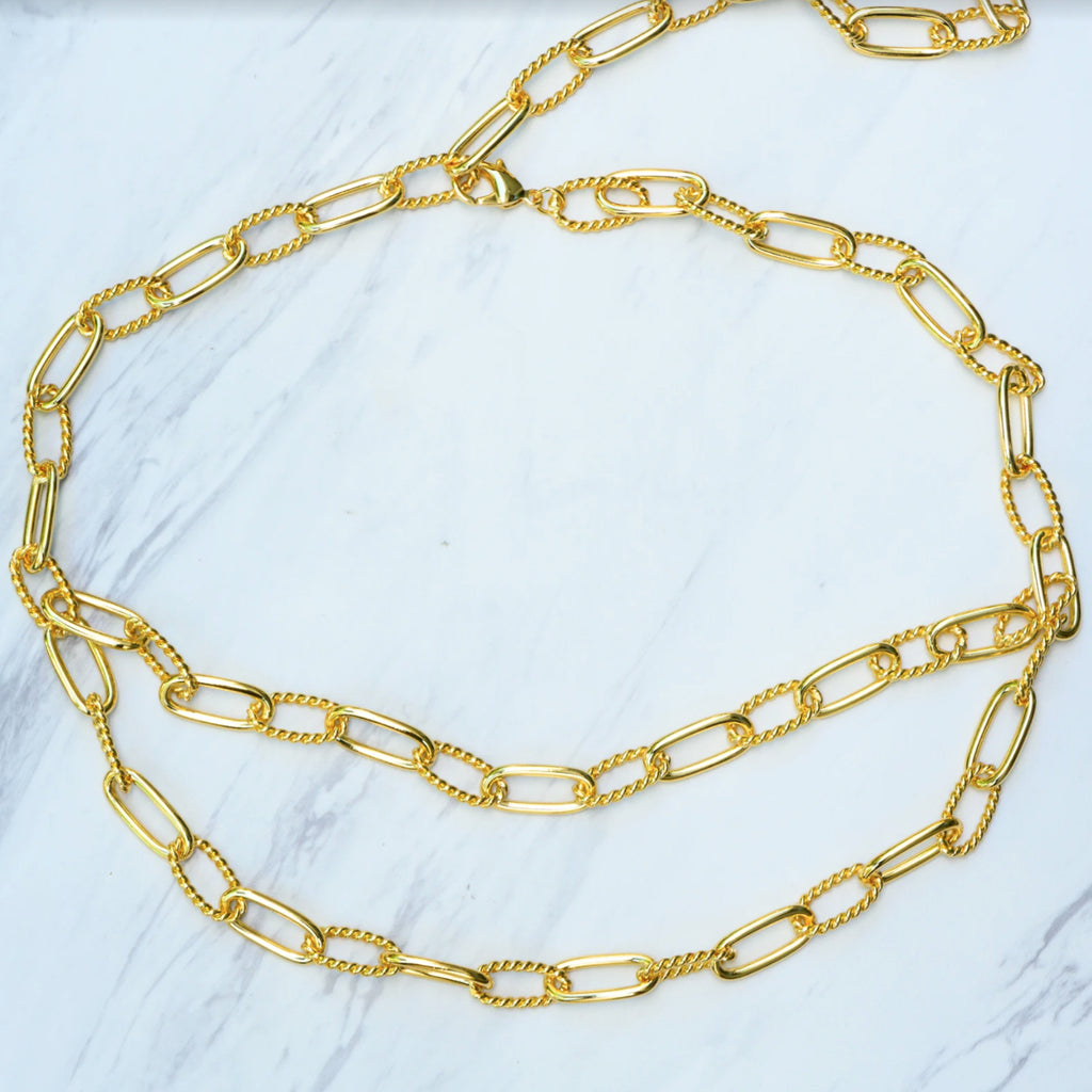 Samfa Style Two Layer Chain Link Belt