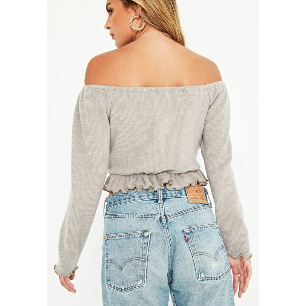 Project Social T Akita Off The Shoulder Ruffled Top