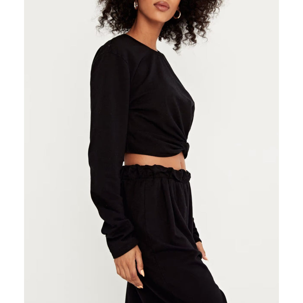Project Social T Florence Twist Top in Black